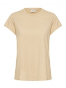 Kurzarm T-Shirt Bell von Saint Tropez in Creme