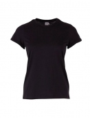 Kurzarm T-Shirt Bell von Saint Tropez in Black