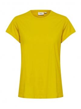 Kurzarm T-Shirt Bell von Saint Tropez in Sulphur
