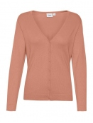 Strickjacke Mila von Saint Tropez in TerraCottaMelange