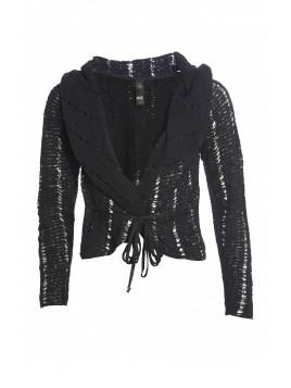 Knit Cardigan 3975-66 von Nü by Staff-Woman in Black