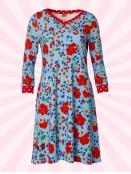 Kleid Carolines Longings von Du Milde in RotBlau