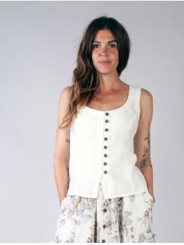 Weste Loppan von Olars Ulla in White