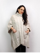 Poncho von Noa Noa in off white melange