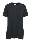 Kurzarmshirt Adda von Saint Tropez in Black