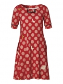 Kleid Carolines Birdies von Du Milde in Red