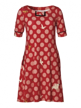 Kleid Carolines Birdies von Du Milde in Red