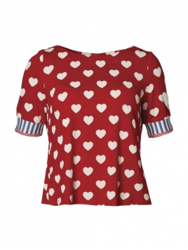 Shirt Totally Love Mary von Du Milde in Red