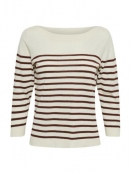 Pullover Dua von Part-Two in StripeBrown