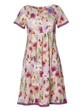 Kleid Purple Almina von Du Milde