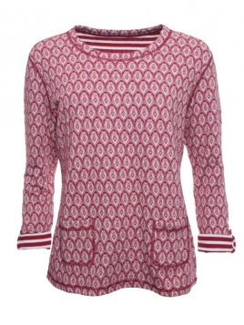 Shirt Kari von Sorgenfri Sylt in wine
