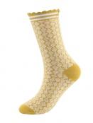 Socken Irma Nordic von Sorgenfri Sylt in Amber