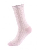 Socken Irma Nordic von Sorgenfri Sylt in Rose