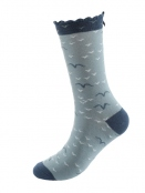 Socken Irma Bird von Sorgenfri Sylt in NordicBlue