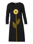 Kleid Carolines Sunflower von Du Milde in Black
