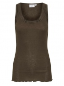 Tanktop Gloria von Saint Tropez in ChocolateBrown