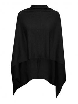 Poncho Mira von Saint Tropez in Black