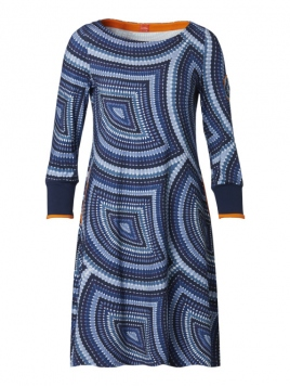 Kleid Carolines Batic von Du Milde in Blue