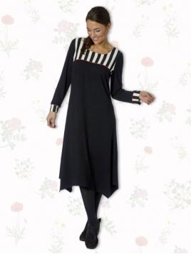 Kleid Lathyrus Stripes von Du Milde etc. in Black