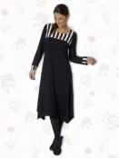 Kleid Lathyrus Stripes von Du Milde etc. in Black