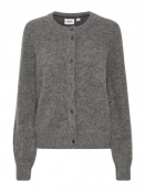 Strickjacke Donatella von Saint Tropez in GreyMelange