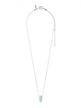 """Halskette """"Chakra"""" versilbert von Pilgrim in Grün"""