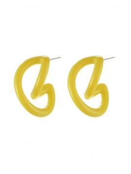 """Ohrringe """"Ibby"""" versilbert von Pilgrim in Gelb"""
