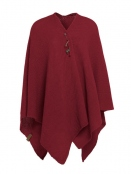 Poncho Cape Jazz von Knit Factory in Bordeaux
