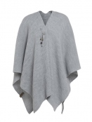 Poncho Cape Jazz von Knit Factory in Grau