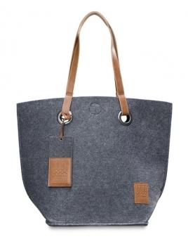 Tasche Tess von Knit Factory in Anthrazit