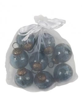 Mini Weihnachtskugeln (8Stk.) von Ib Laursen in Petrol