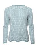 Pullover Dorit von Sorgenfri Sylt in Turquoise