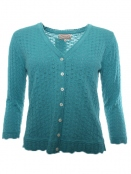 Strickjacke Amine von Sorgenfri Sylt in Mermaid