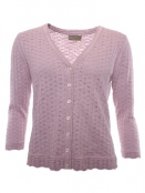 Strickjacke Amine von Sorgenfri Sylt in Rose