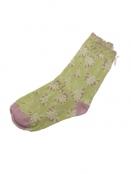 Socken Irma Hortensie von Sorgenfri Sylt in Lime