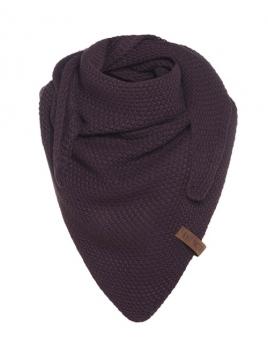 Dreiecksschal Coco (Junior) von Knit Factory in Aubergine