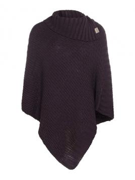 Poncho Nicky von Knit Factory in Aubergine