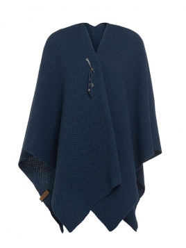 Poncho Cape Jazz von Knit Factory in Jeans