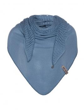 Dreieckstuch April von Knit Factory in StoneBlue