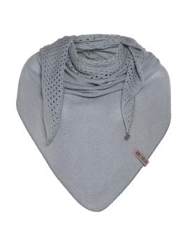 Dreieckstuch April von Knit Factory in Grau