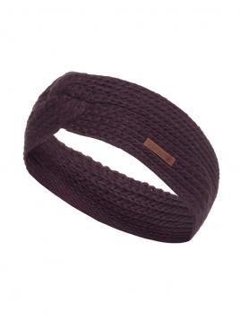 Stirnband Joy von Knit Factory in Aubergine