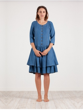 Kleid Klasse von Olars Ulla in DenimBlue