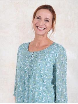 Bluse Kaja von Sorgenfri Sylt in Turquoise