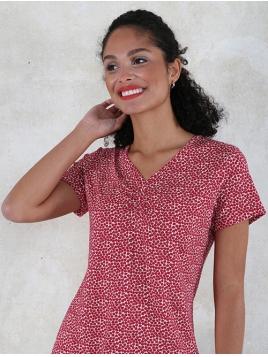 T-Shirt Elle von Lykka in Rubin