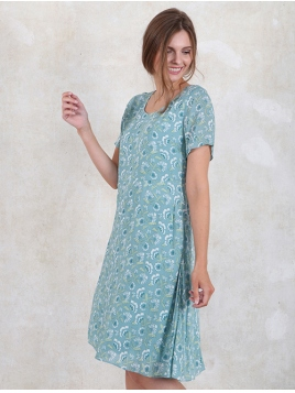 Kleid Stina von Sorgenfri Sylt in Turquoise