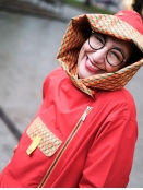 Regenmantel London von Blaest Rainwear in Rot