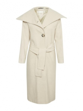 Long Coat Coci von InWear in Ecru