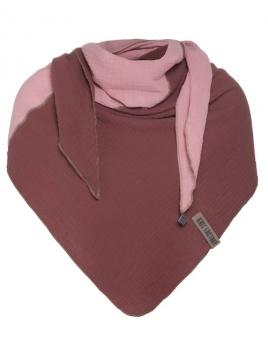 Dreieckstuch Fay von Knit Factory in StoneRed/Rosa
