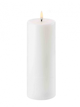 LED Pillar Candle (Ø=7,8cm) von Uyuni Lighting in NordicWhite