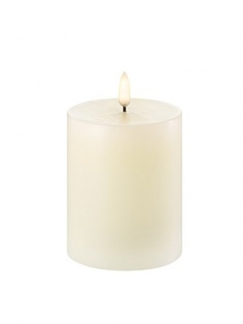 LED Pillar Candle (Ø=7,8cm) von Uyuni Lighting in Ivory